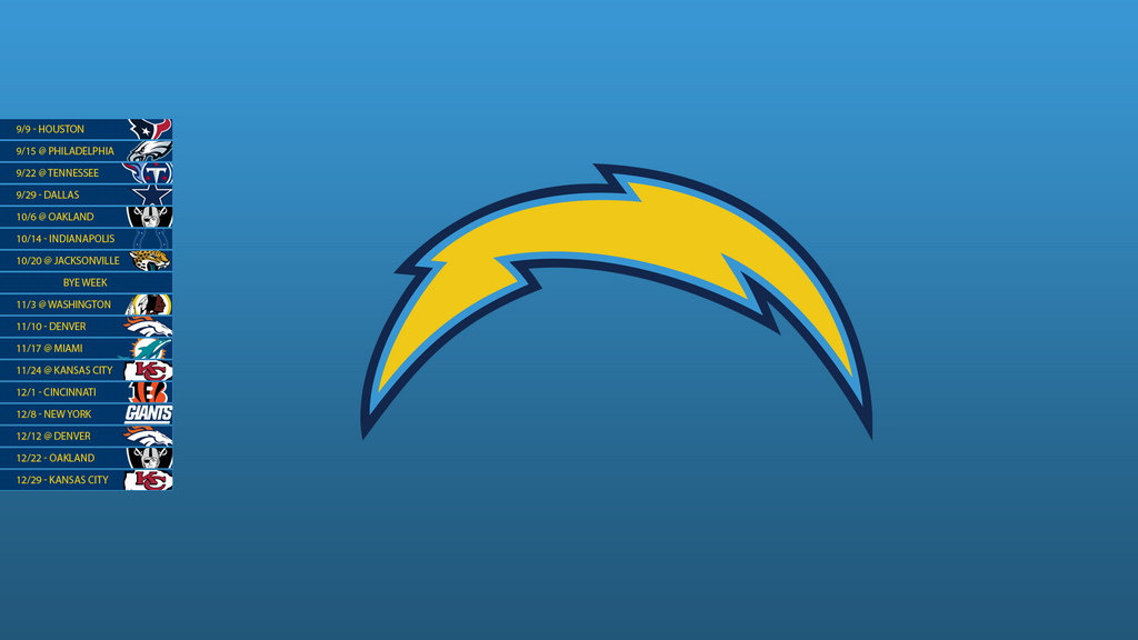 San Diego Chargers 2013 Schedule Wallpaper By Sevenwithat