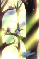 Birds - Original/Doodle by Cloudy-Tempest
