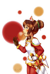Gift - Fan art - Fantasy Life Sarah Lee by Cloudy-Tempest
