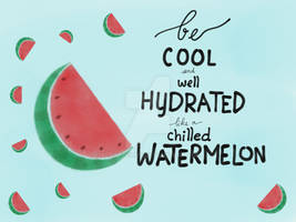 Watermelon quote by AdoptPeony
