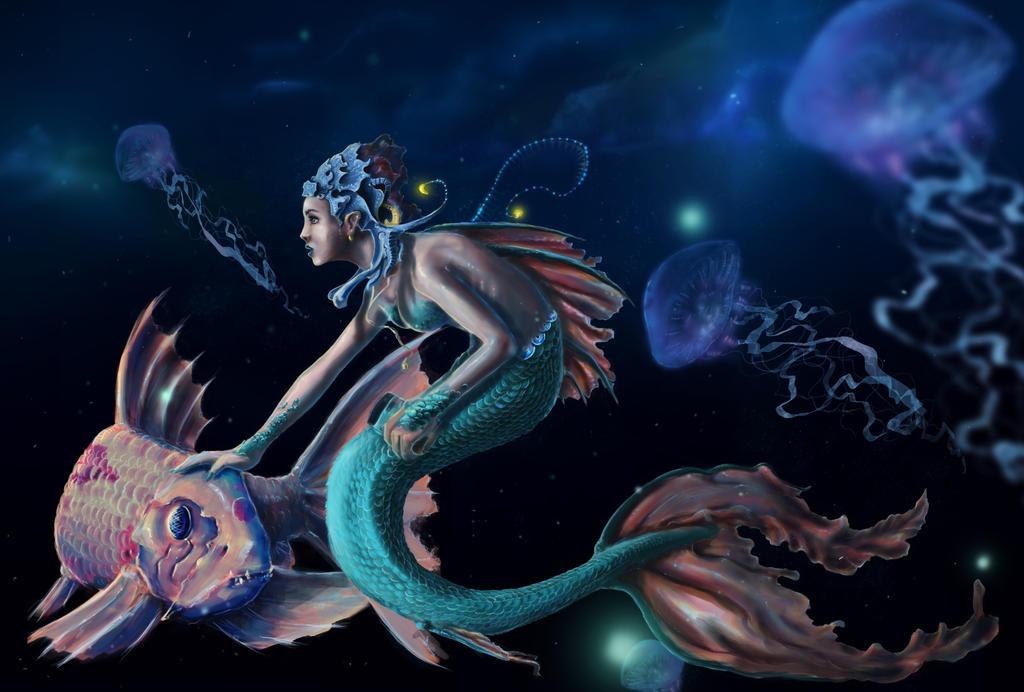 Deep sea mermaid by LEVcraft on deviantART