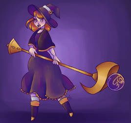 witch! . secret santa by verdigrismic
