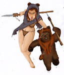 Ewok Girl with Ewok