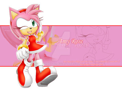 Amy Rose_wp by EmilyTC