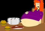 Daphne's big dinner