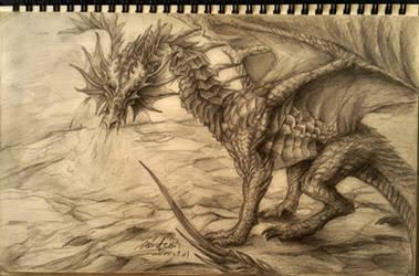 Sketch Practice - Dragon by Black-Hermit