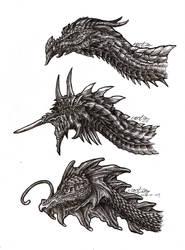Dragons Heads Sketch