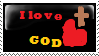 I Love God Stamp by Autummstar