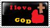 I Love God Stamp by Autummstar