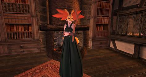 SL Avatar Showcase: Mrs. Fox (Anthro Delphox)