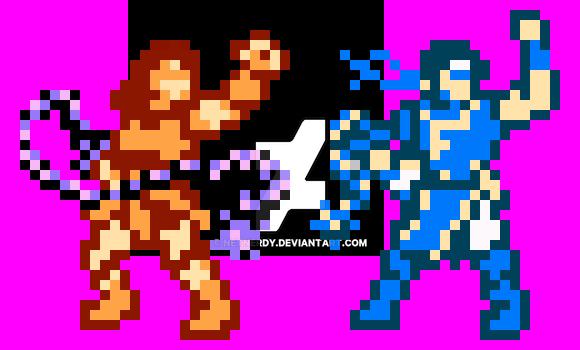 WIP Simon 'n Richter Belmont (Super Smash Bros) by netnerdy