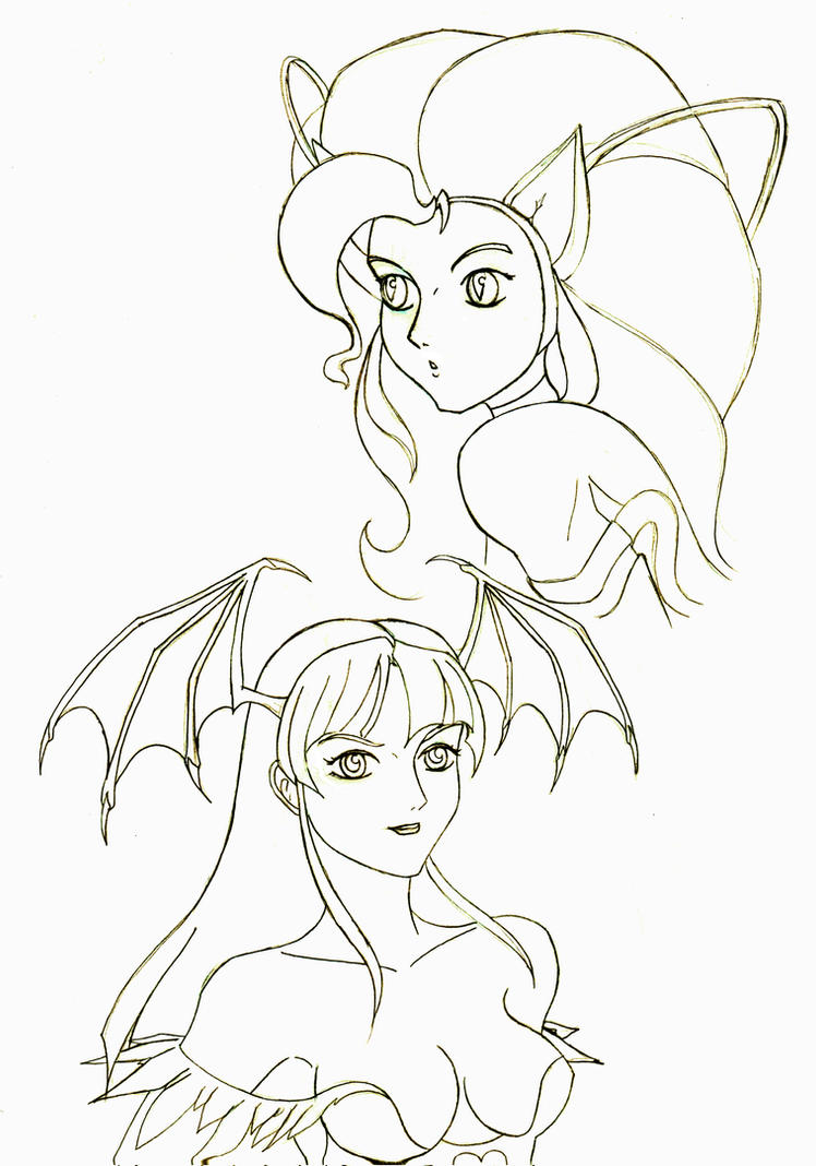 Darkstalker Gals doodle by Jee-Youn-Lim