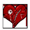Insidious Emoticon Contest: Broken Heart by MiseryGk