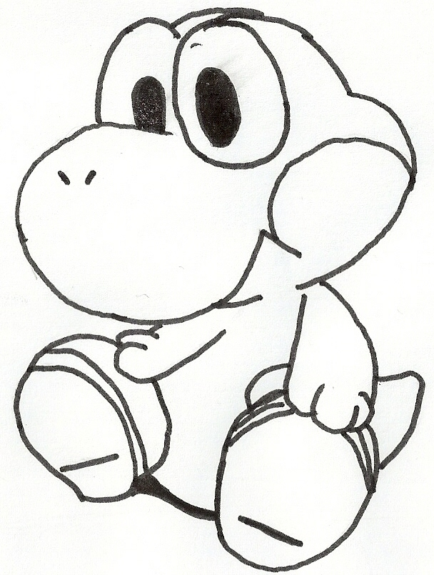Baby yoshi by vocavocavocaloid on deviantart for Baby yoshi coloring pages