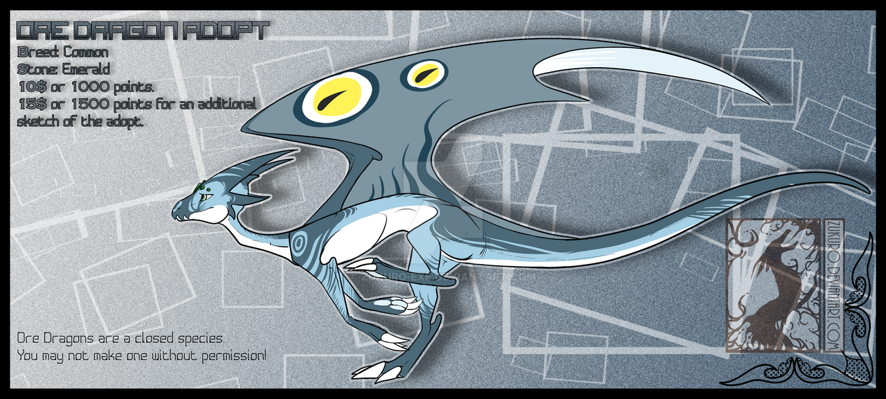Ore Dragon Adopt #1 - CLOSED by Zukuro-EXE