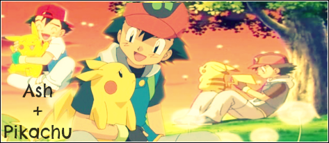 Ash and Pikachu Signature by SophieTheVampire