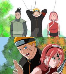 Previews: Naruto and Sakura before a fight
