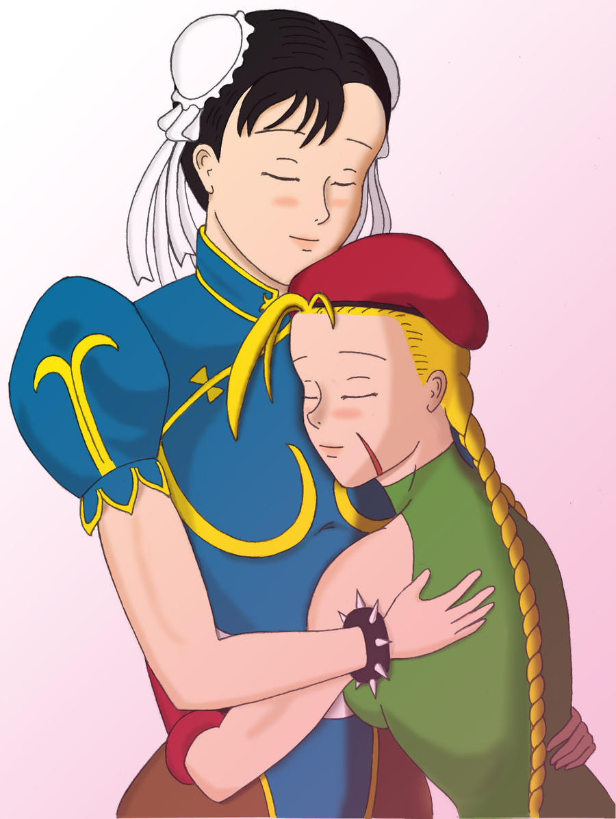 Cammy and Chun, color by HPL-The-Outsider