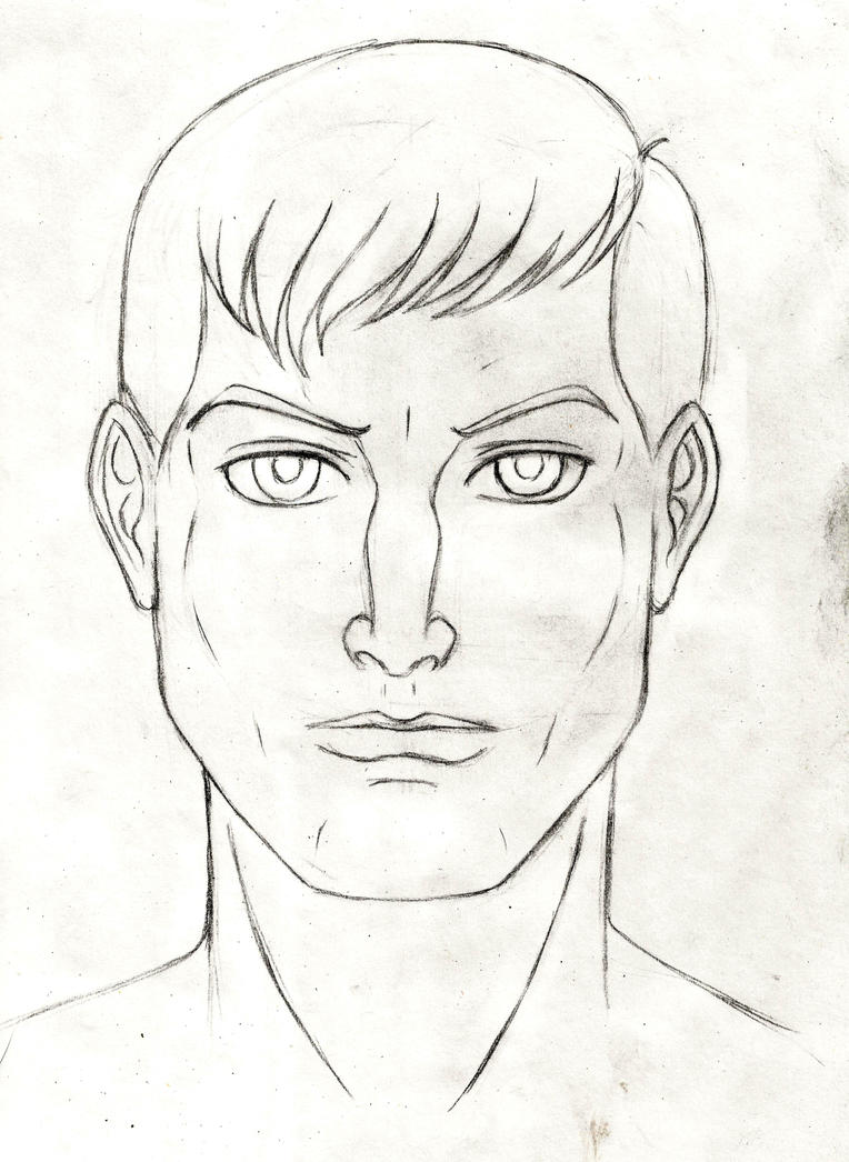 Face sketch - male by JB4C