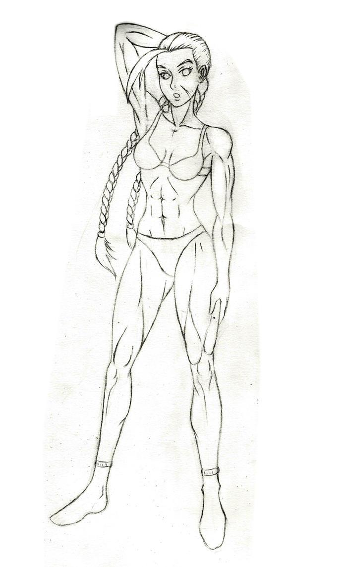 Anatomy practice - Cammy by JB4C