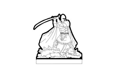 Dragonslayer paper mini - inks