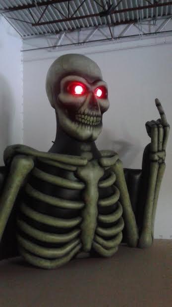 Sum41 Skeleton Torso 15' X 18' by dadenko