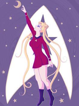 Sailor Moon/Star Trek Mashup (Red Version)