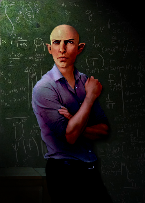 Professor Solas' Gaze by EveningAlchemist