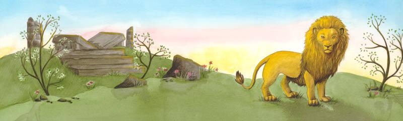 Aslan at dawn