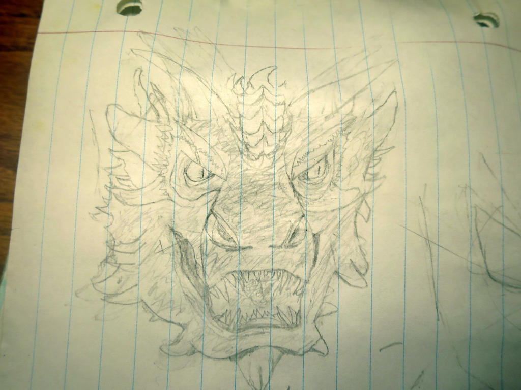 Really old Smaug sketch by Legofrodo12