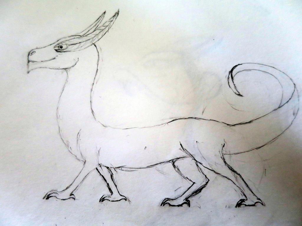 Random dragon sketch by Legofrodo12