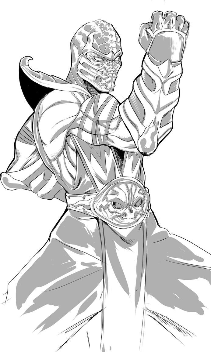 Scorpion (sketch) by DJOK3