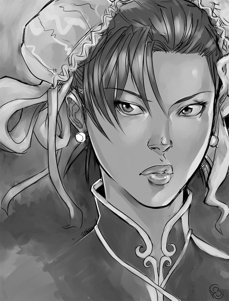 Chun-Li sketch by DJOK3