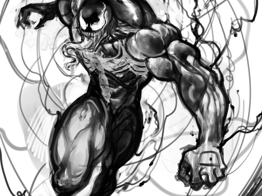 Venom sketch by DJOK3