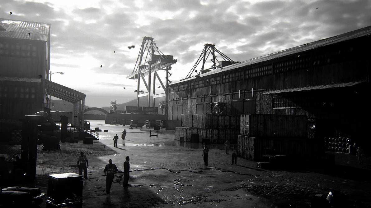 Uncharted 4 Scenic Shot 3, African Pier by Fidgetyknickers