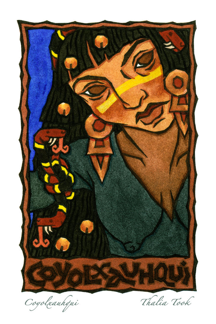 Coyolxauhqui by ThaliaTook