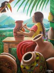The Pot Lady by iizzyy174
