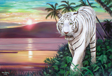 White Tiger Sunset by iizzyy174