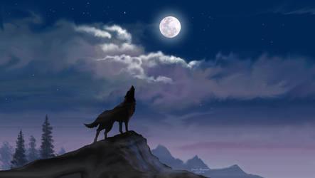 Moon Light Howling1360x768 by iizzyy174