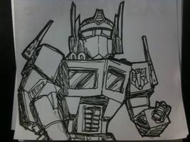 Optimus prime. by Dscapades