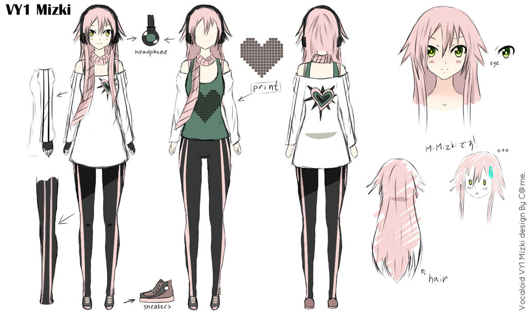 The Art Of Character Design Volume I : Vy mizki vocaloid character design by maple camellia on