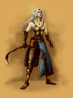 Comish - Albino Drow OC by oneoftwo