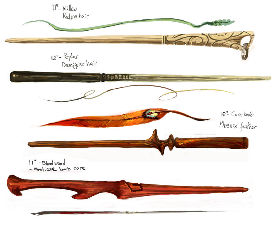 Wand designs by oneoftwo on DeviantArt