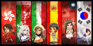 Hetalia chibi bookmarks - 3 by oneoftwo