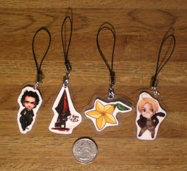 Cellphone charms by oneoftwo