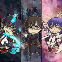 Aoi no Exorcist Bookmarks by oneoftwo