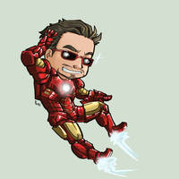 Sticker - Iron Man by oneoftwo