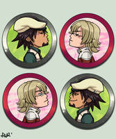 Tiger and Bunny Kissing Cameos! by oneoftwo