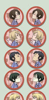 Kissing Cameos - Ouran by oneoftwo
