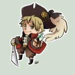 Comish - Pirate Iggy Sticker